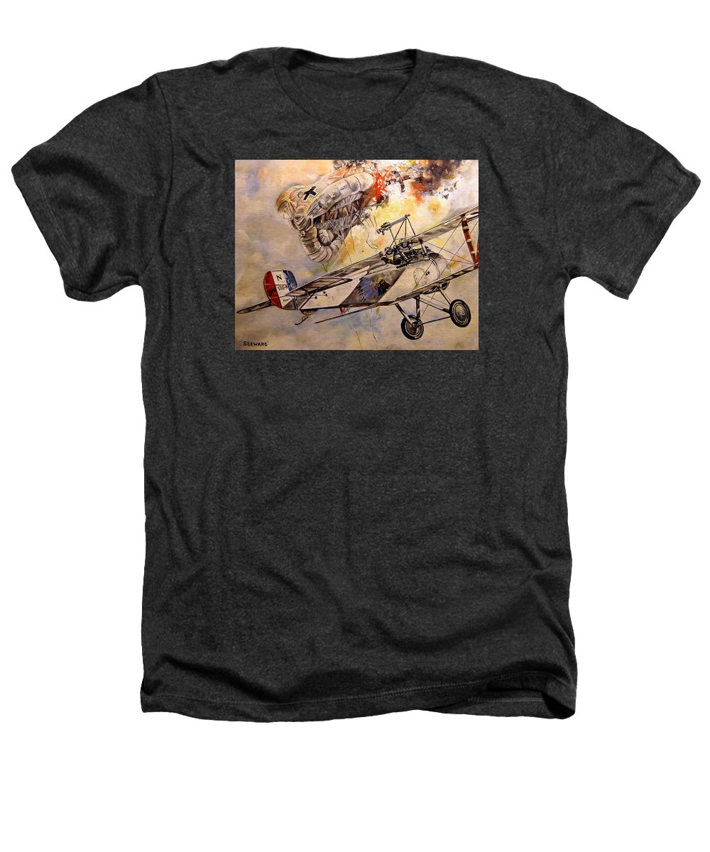 Military Heathers T-Shirt featuring the painting The Balloon Buster by Marc Stewart