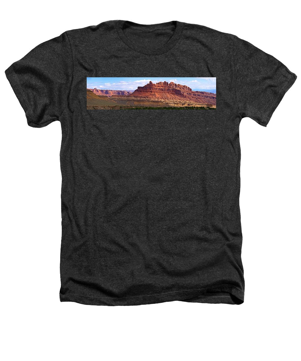 Landscape Utah Heathers T-Shirt featuring the photograph The Battleship Utah by Heather Coen
