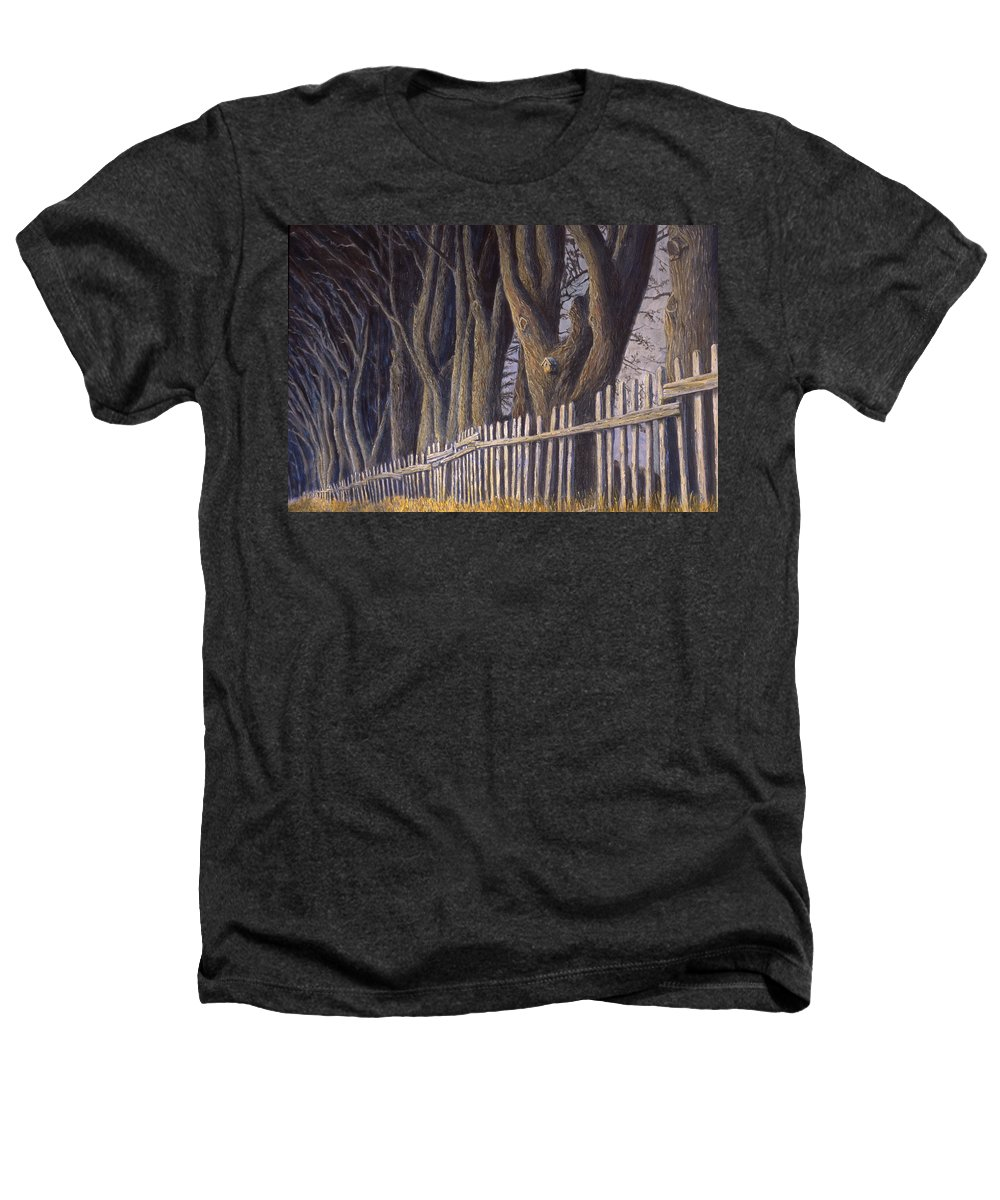 Bird House Heathers T-Shirt featuring the painting The Bird House by Jerry McElroy