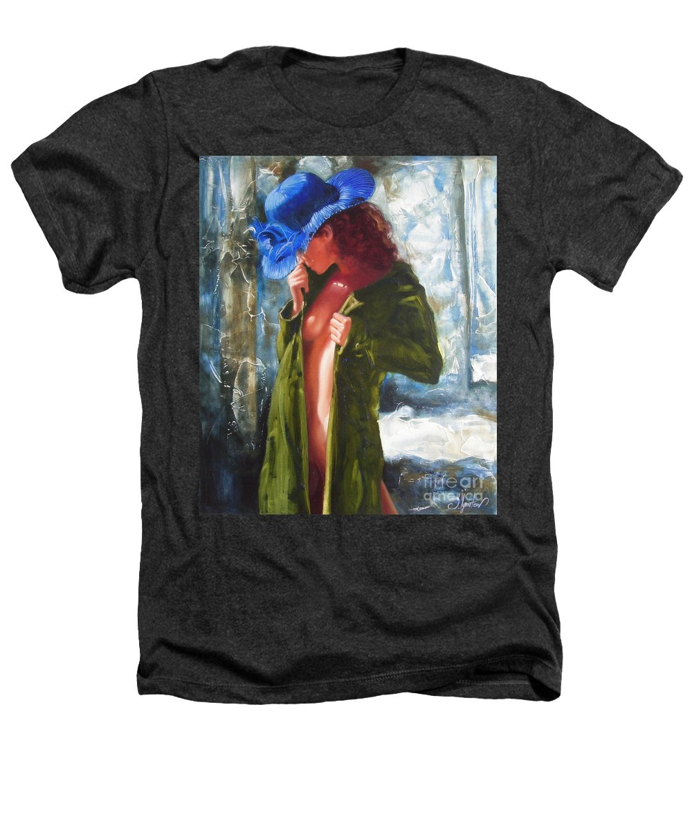 Art Heathers T-Shirt featuring the painting The Blue Hat by Sergey Ignatenko