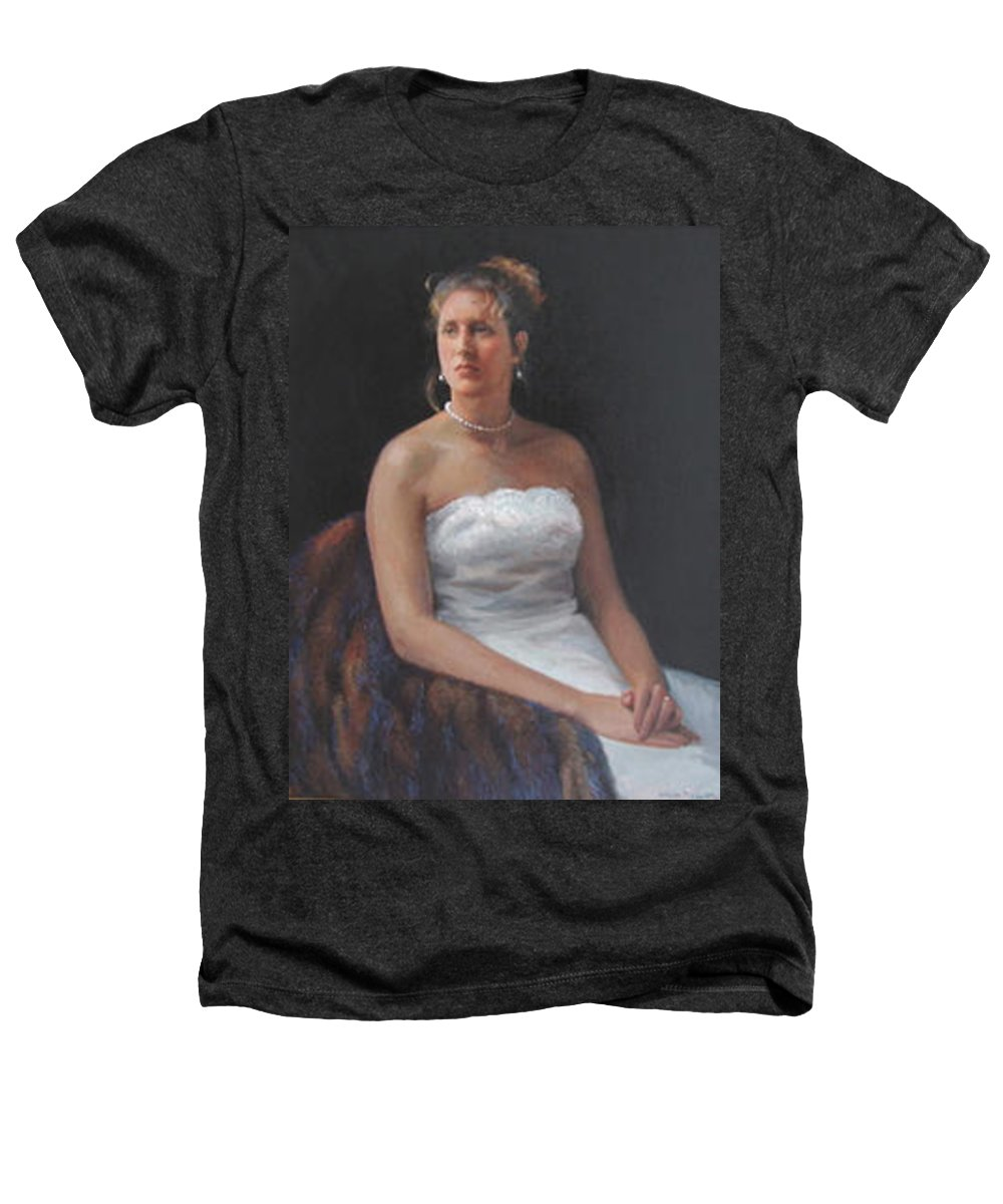 Formal Portrait Heathers T-Shirt featuring the painting The Bride by Dianne Panarelli Miller