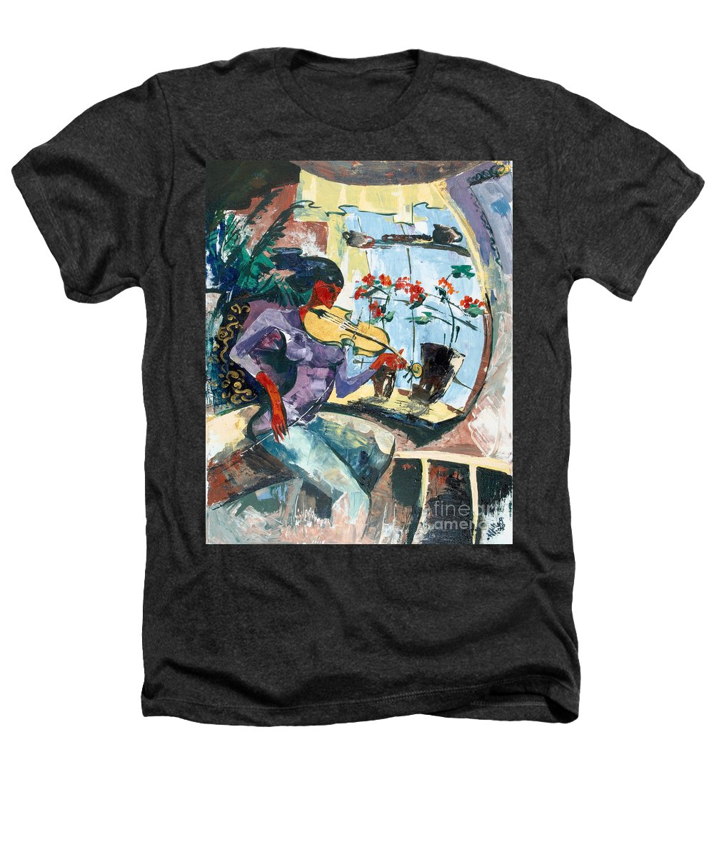 Music Heathers T-Shirt featuring the painting The Color Of Music by Elisabeta Hermann