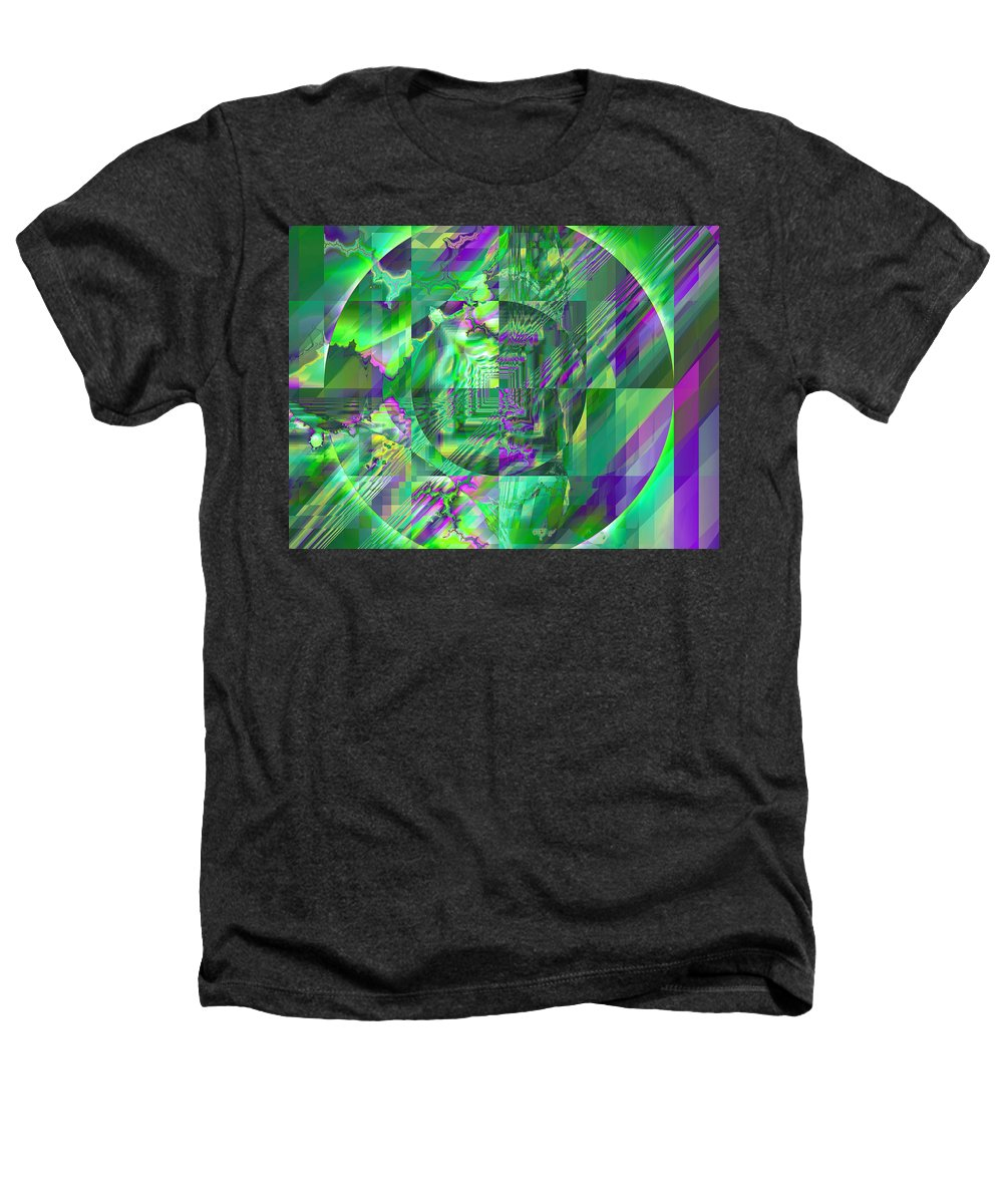 Fractal Heathers T-Shirt featuring the digital art The Crazy Fractal by Frederic Durville