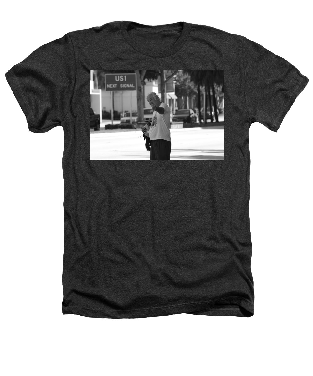 Black And White Heathers T-Shirt featuring the photograph The Devil Man by Rob Hans