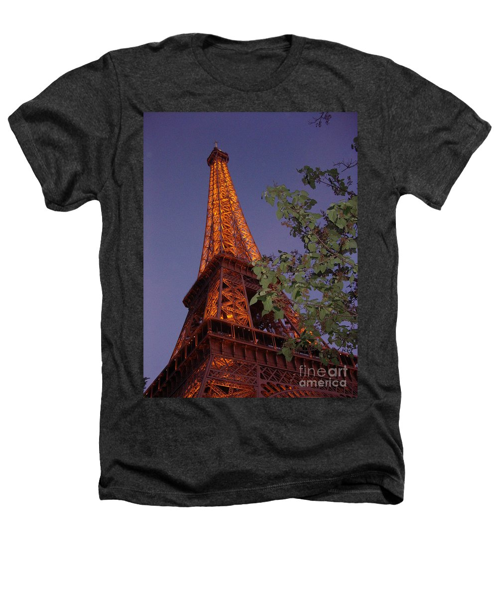 Tower Heathers T-Shirt featuring the photograph The Eiffel Tower Aglow by Nadine Rippelmeyer