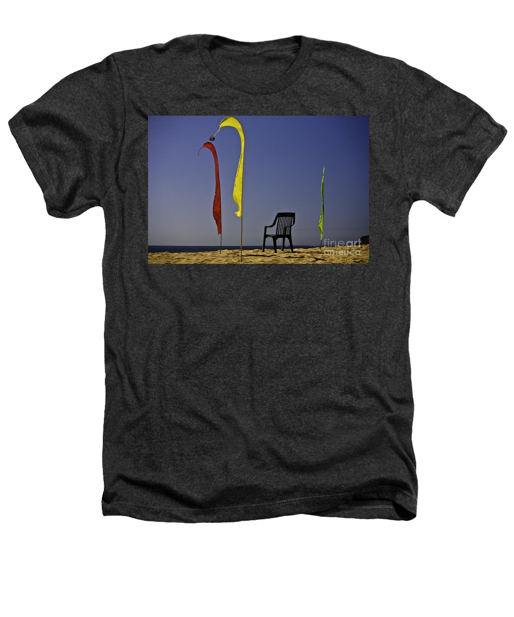 Beach Heathers T-Shirt featuring the photograph The Empty Chair by Sheila Smart Fine Art Photography