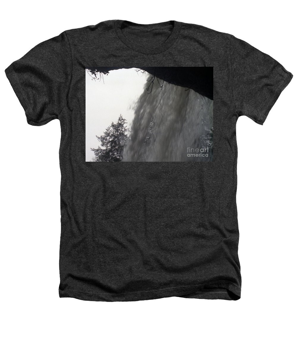 Waterfalls Heathers T-Shirt featuring the photograph The Falls by Richard Rizzo