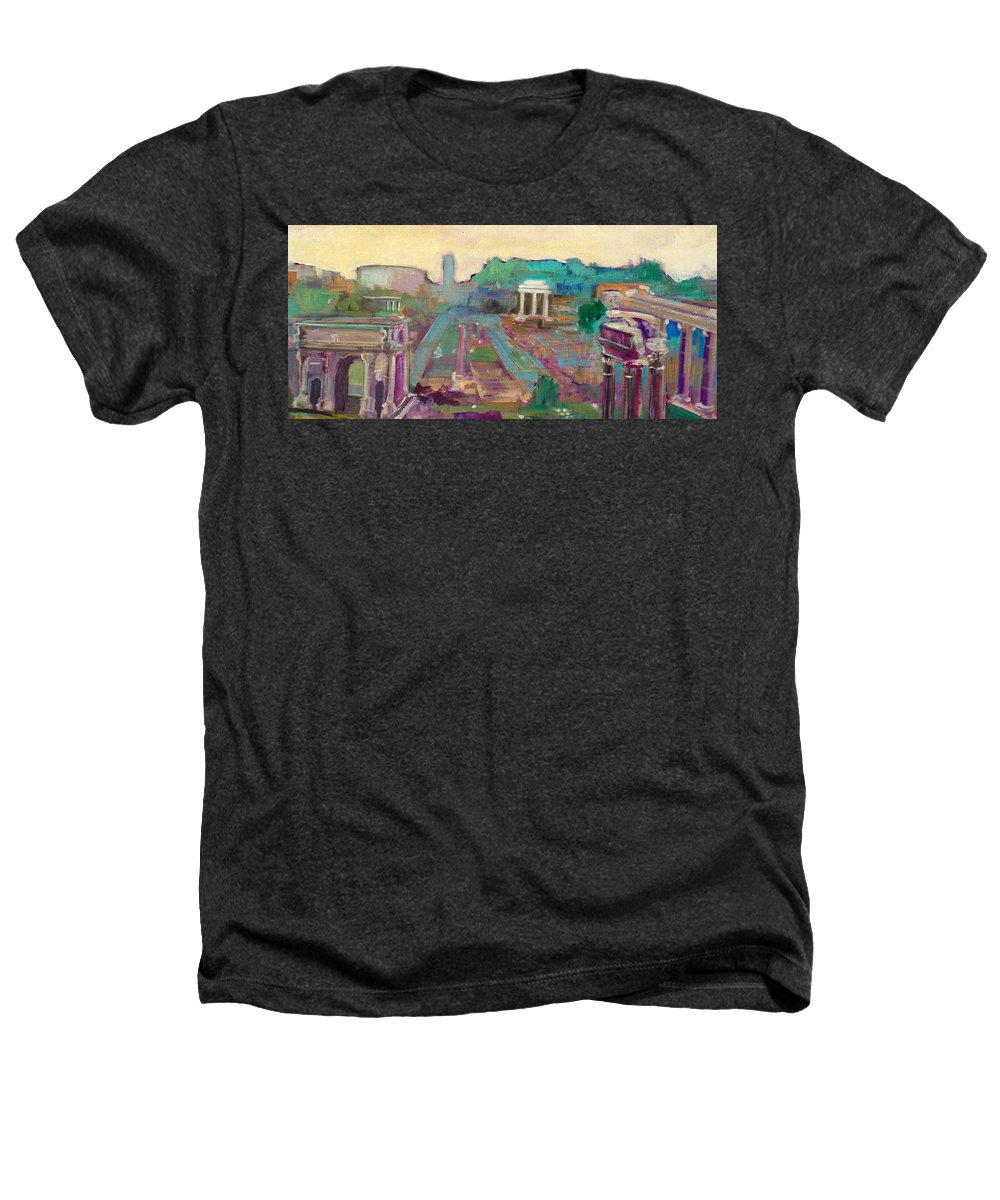 Rome Heathers T-Shirt featuring the painting The Forum Romanum by Kurt Hausmann