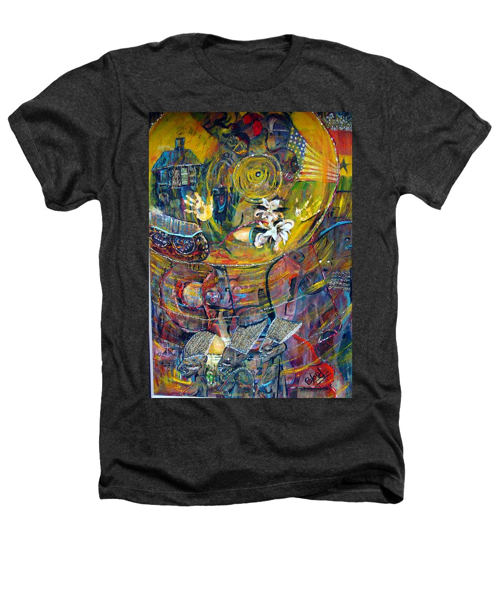 Figures Heathers T-Shirt featuring the painting The Journey by Peggy Blood