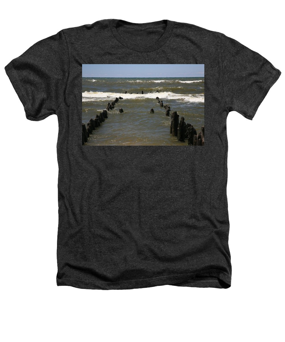 Sand Surf Heathers T-Shirt featuring the photograph The Last Wooden Pier by Robert Pearson