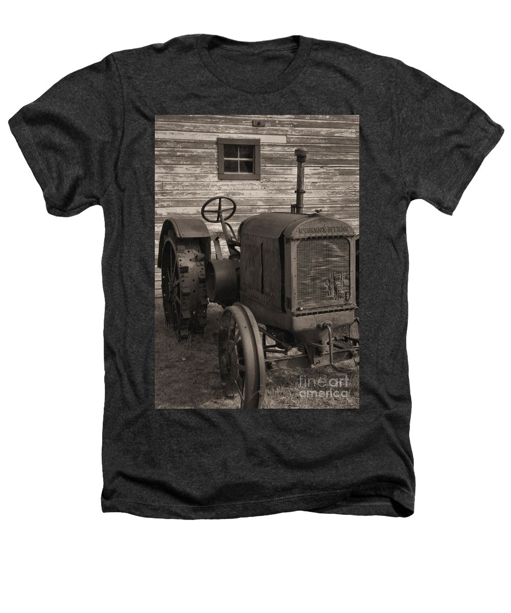 Abandoned Heathers T-Shirt featuring the photograph The Old Mule by Richard Rizzo