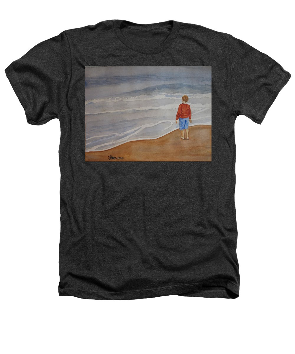 Boy Heathers T-Shirt featuring the painting The Red Shirt by Jenny Armitage
