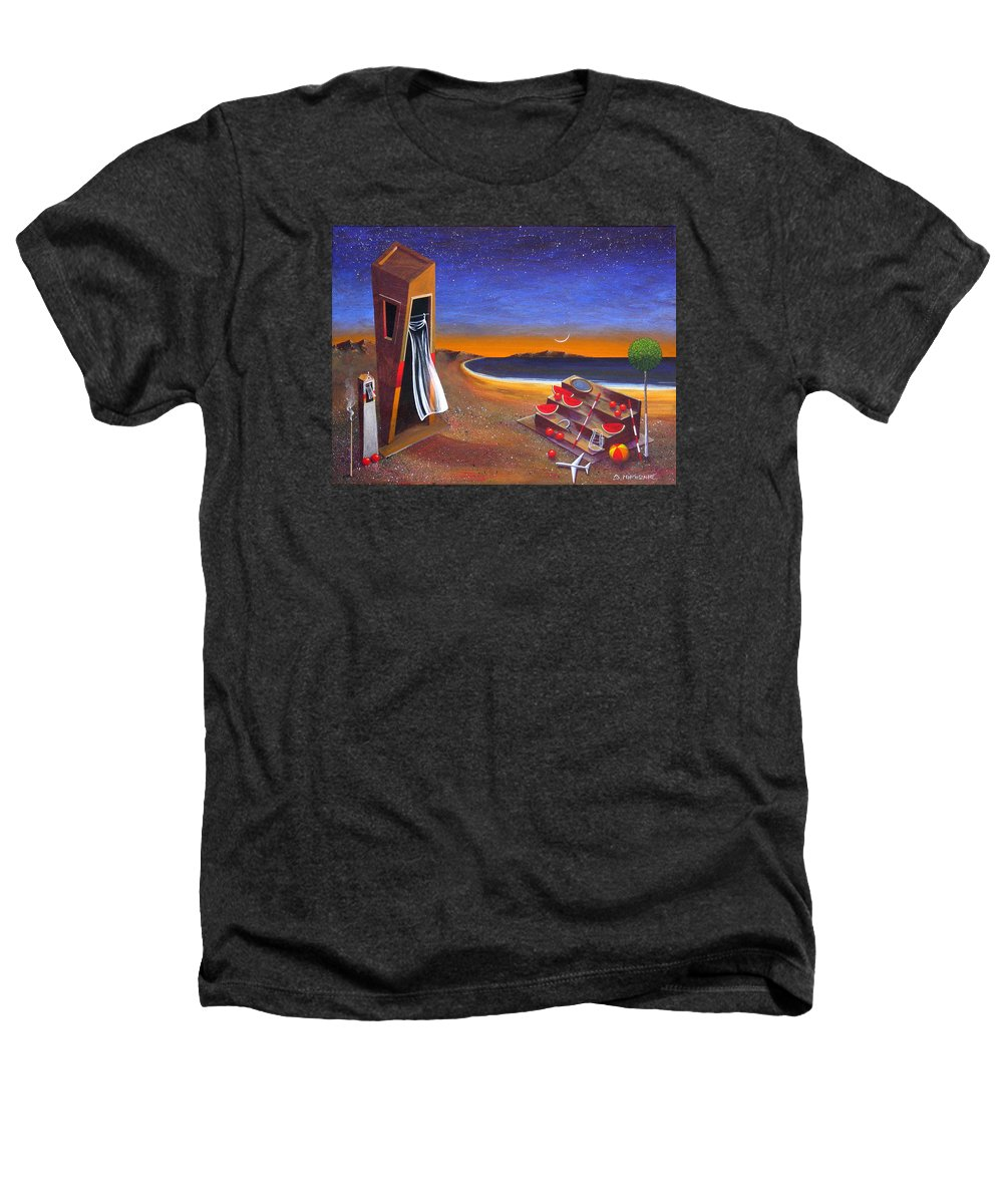Landscape Heathers T-Shirt featuring the painting The School Of Metaphysical Thought by Dimitris Milionis