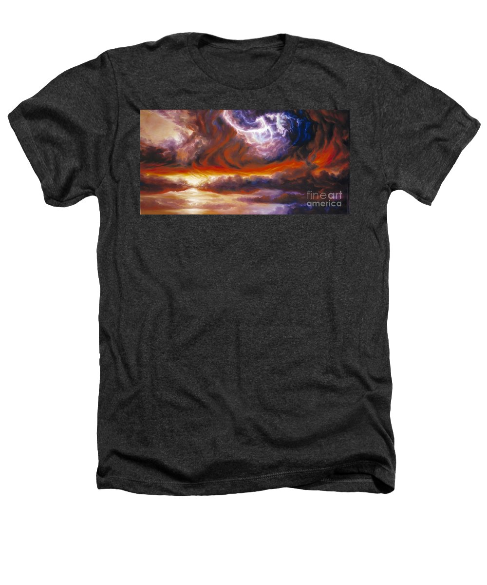 Tempest Heathers T-Shirt featuring the painting The Tempest by James Christopher Hill