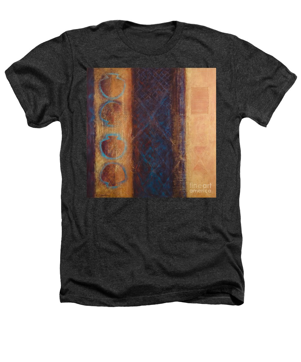 Abstract Heathers T-Shirt featuring the painting The X Factor Alchemy Of Consciousness by Kerryn Madsen-Pietsch