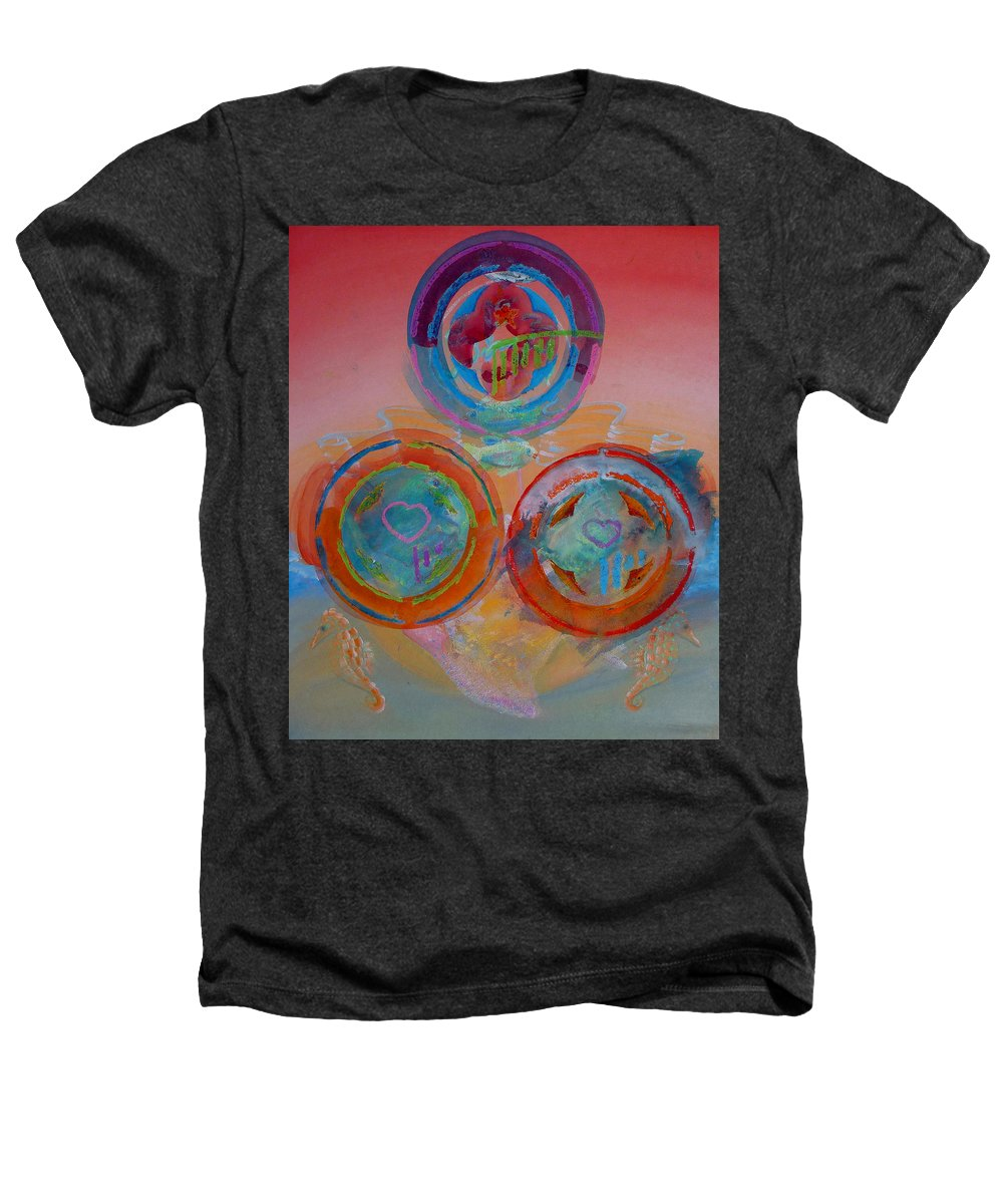 Logo Heathers T-Shirt featuring the painting Three On Marine by Charles Stuart