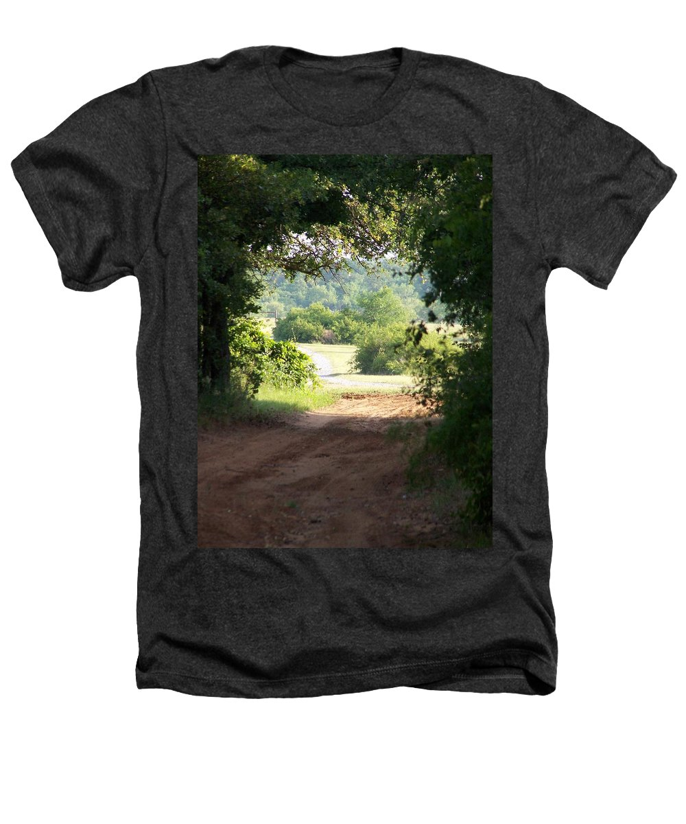 Woods Heathers T-Shirt featuring the photograph Through The Woods by Gale Cochran-Smith