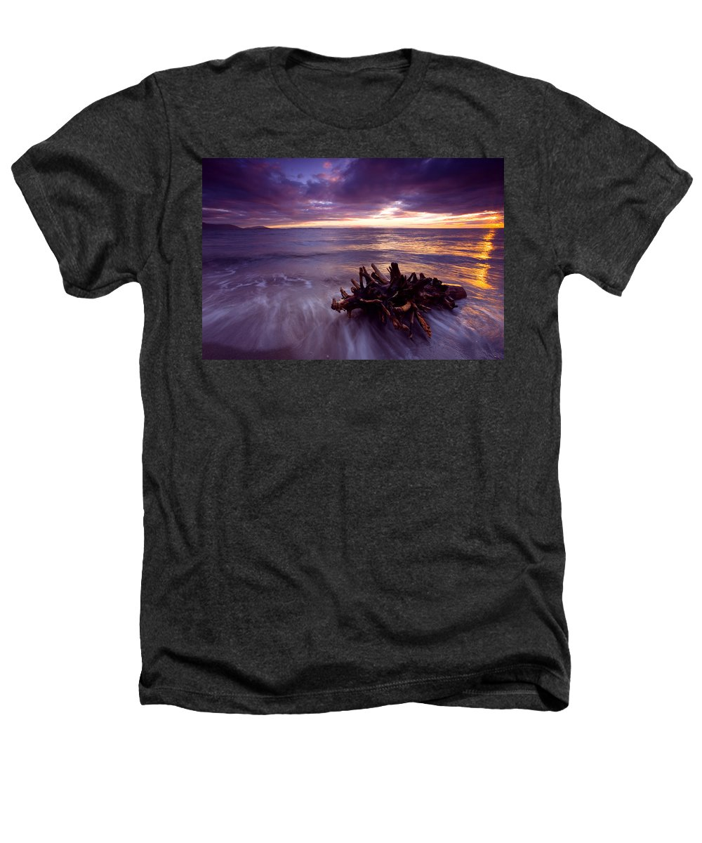 Sunset Heathers T-Shirt featuring the photograph Tide Driven by Mike Dawson