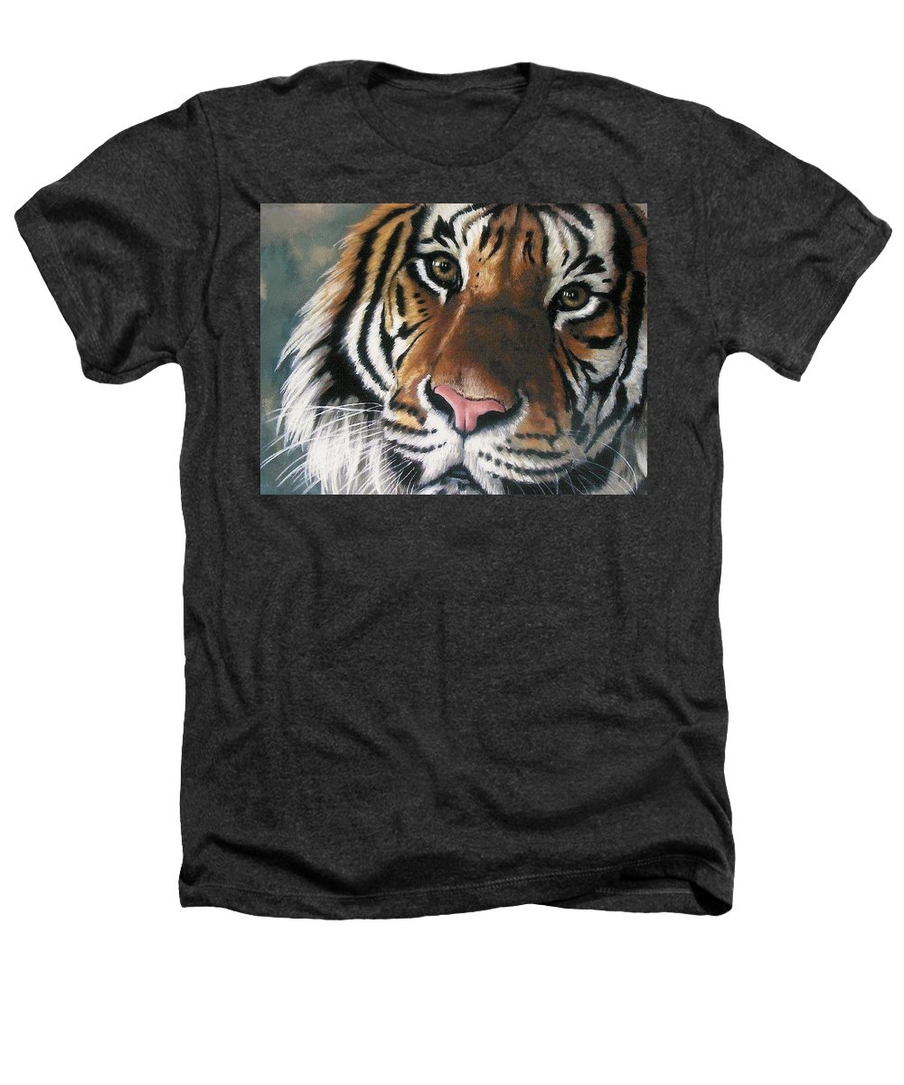 Tiger Heathers T-Shirt featuring the pastel Tigger by Barbara Keith
