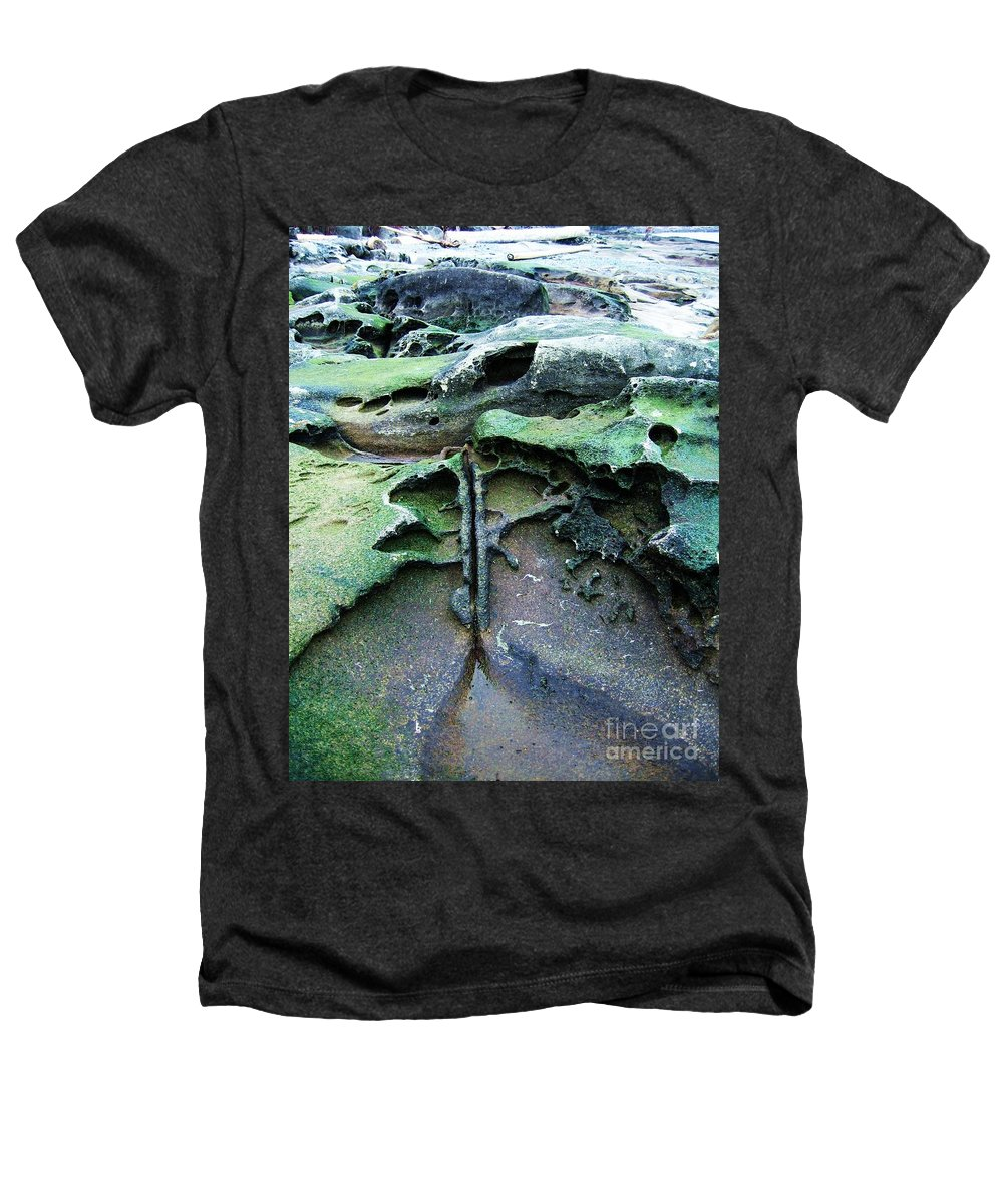 Photograph Rock Beach Ocean Heathers T-Shirt featuring the photograph Time Washed Out by Seon-Jeong Kim