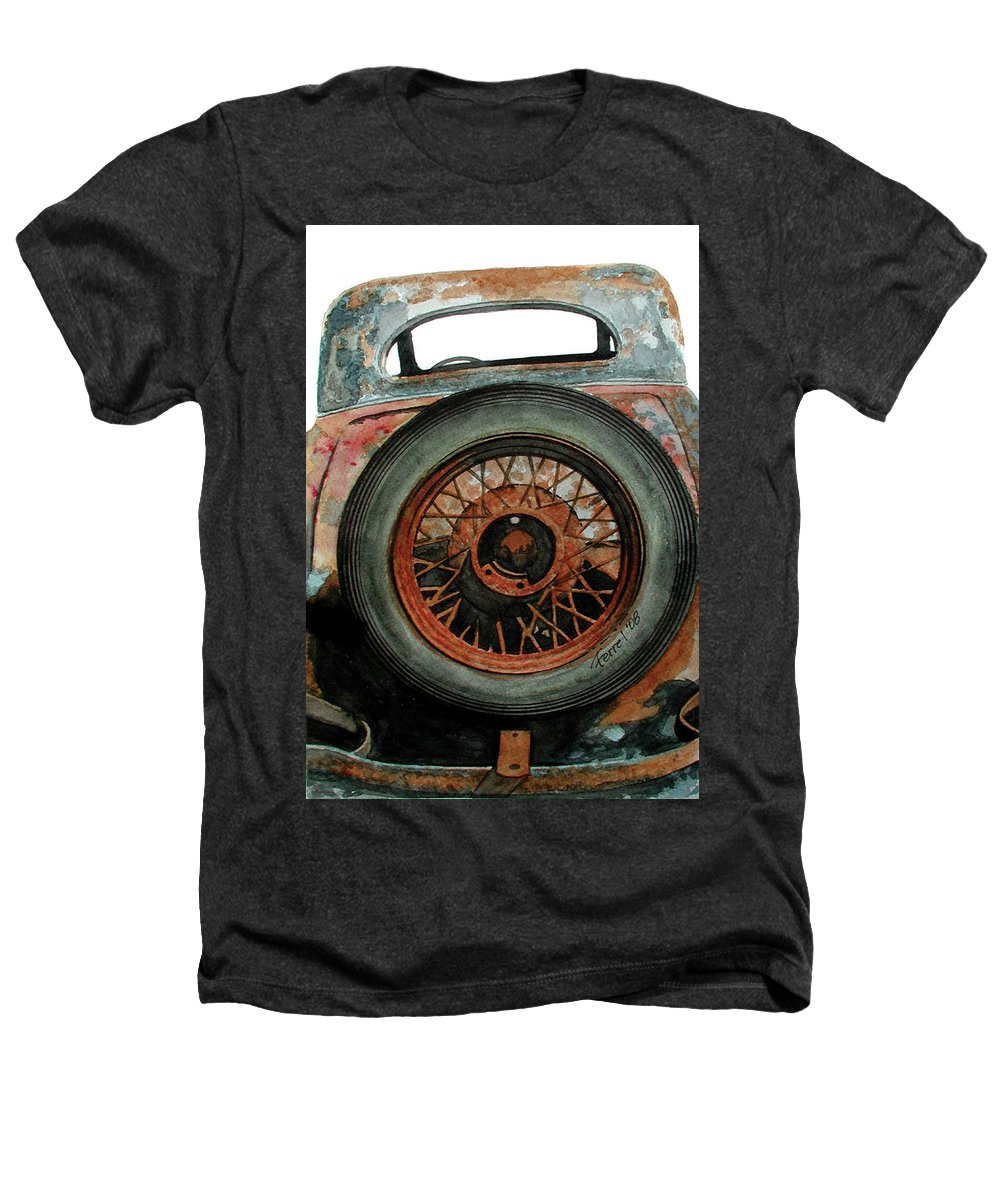 Car Heathers T-Shirt featuring the painting Tired by Ferrel Cordle