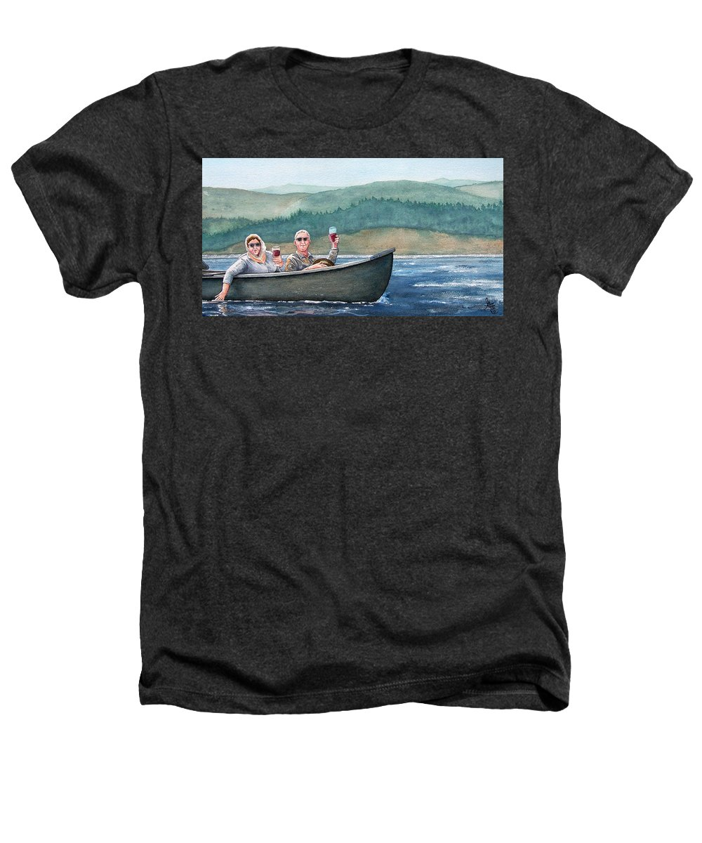 Canoe Heathers T-Shirt featuring the painting To Life by Gale Cochran-Smith