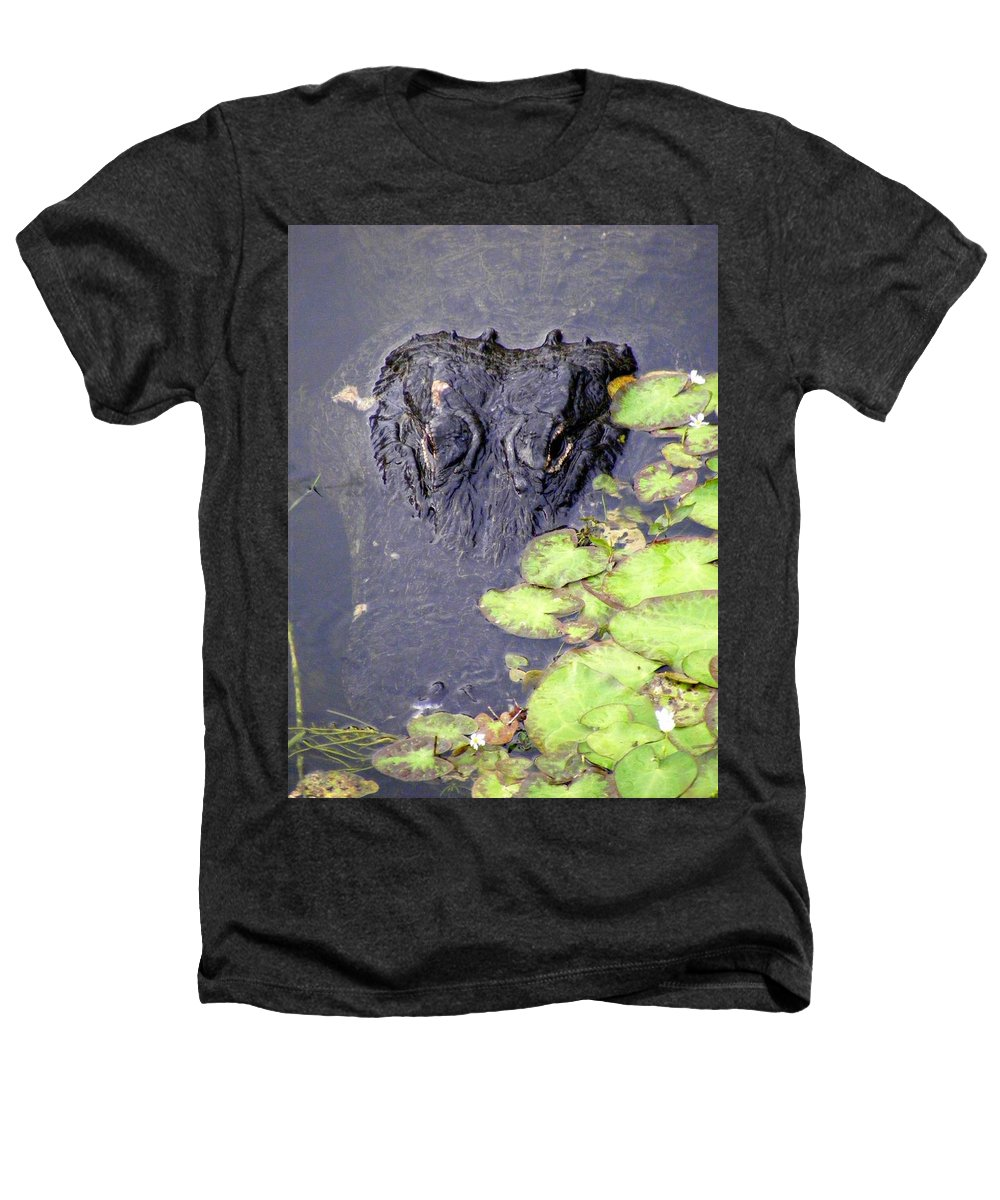 Swamp Heathers T-Shirt featuring the photograph Too Close For Comfort by Ed Smith