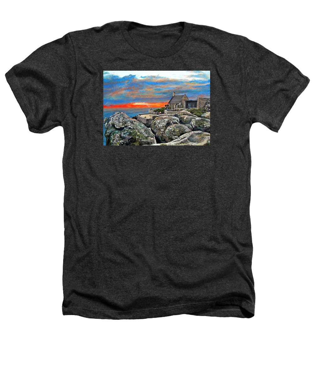 Sunset Heathers T-Shirt featuring the painting Top Of Table Mountain by Michael Durst