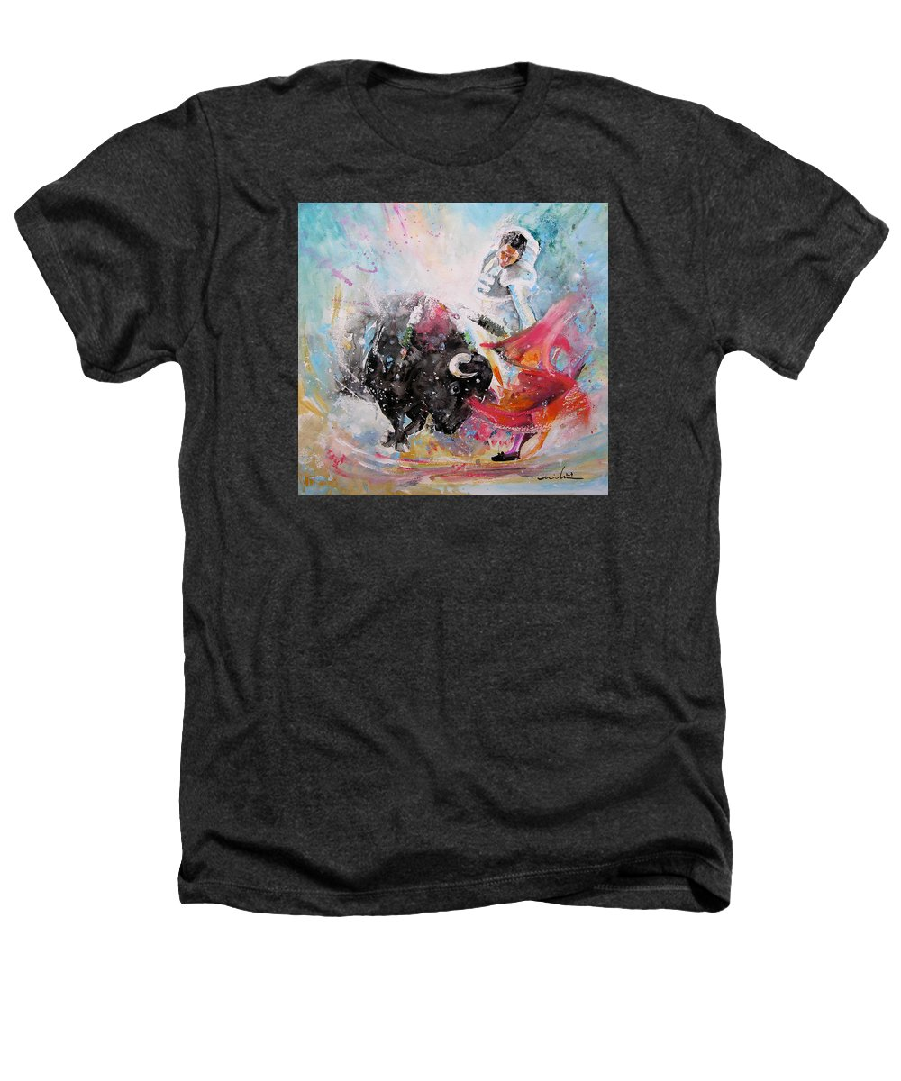 Animals Heathers T-Shirt featuring the painting Toro Tempest by Miki De Goodaboom