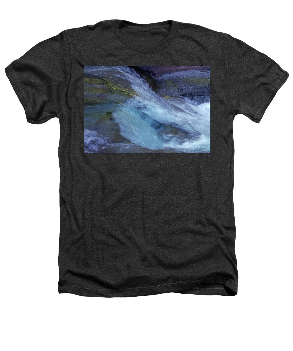 Nature Heathers T-Shirt featuring the photograph Tropical Flowing Waters by Kerryn Madsen- Pietsch