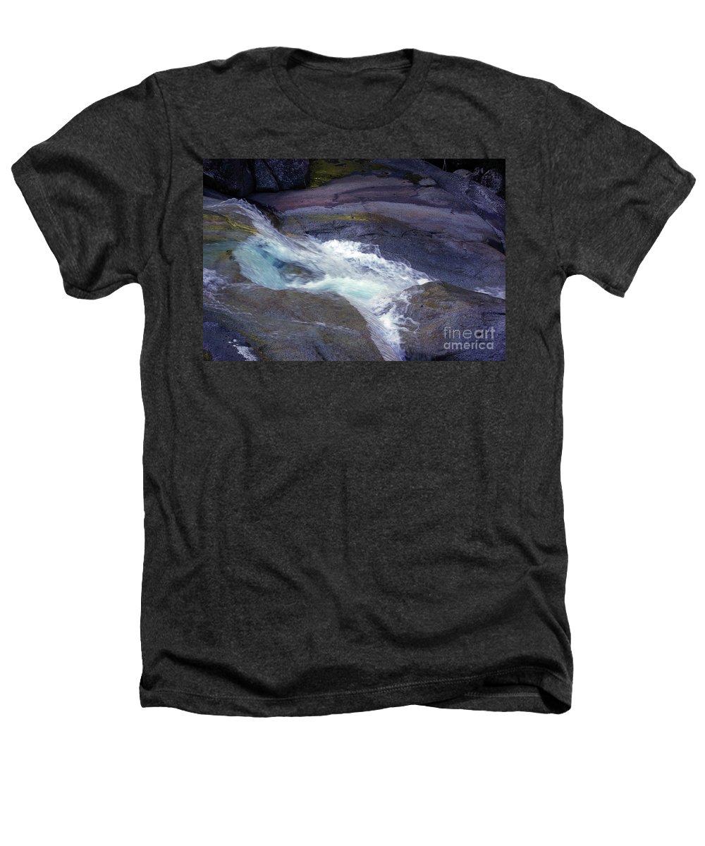 Flowing Heathers T-Shirt featuring the photograph Tropical Water Bird Josephine Falls by Kerryn Madsen- Pietsch