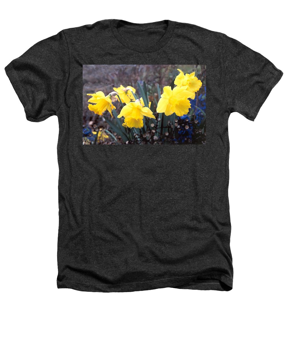 Flowes Heathers T-Shirt featuring the photograph Trumpets Of Spring by Steve Karol