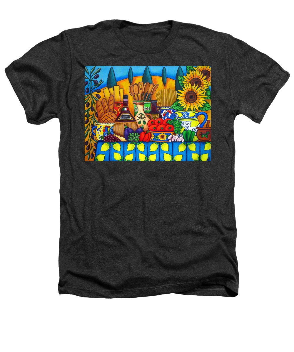 Still Life Heathers T-Shirt featuring the painting Tuscany Delights by Lisa Lorenz