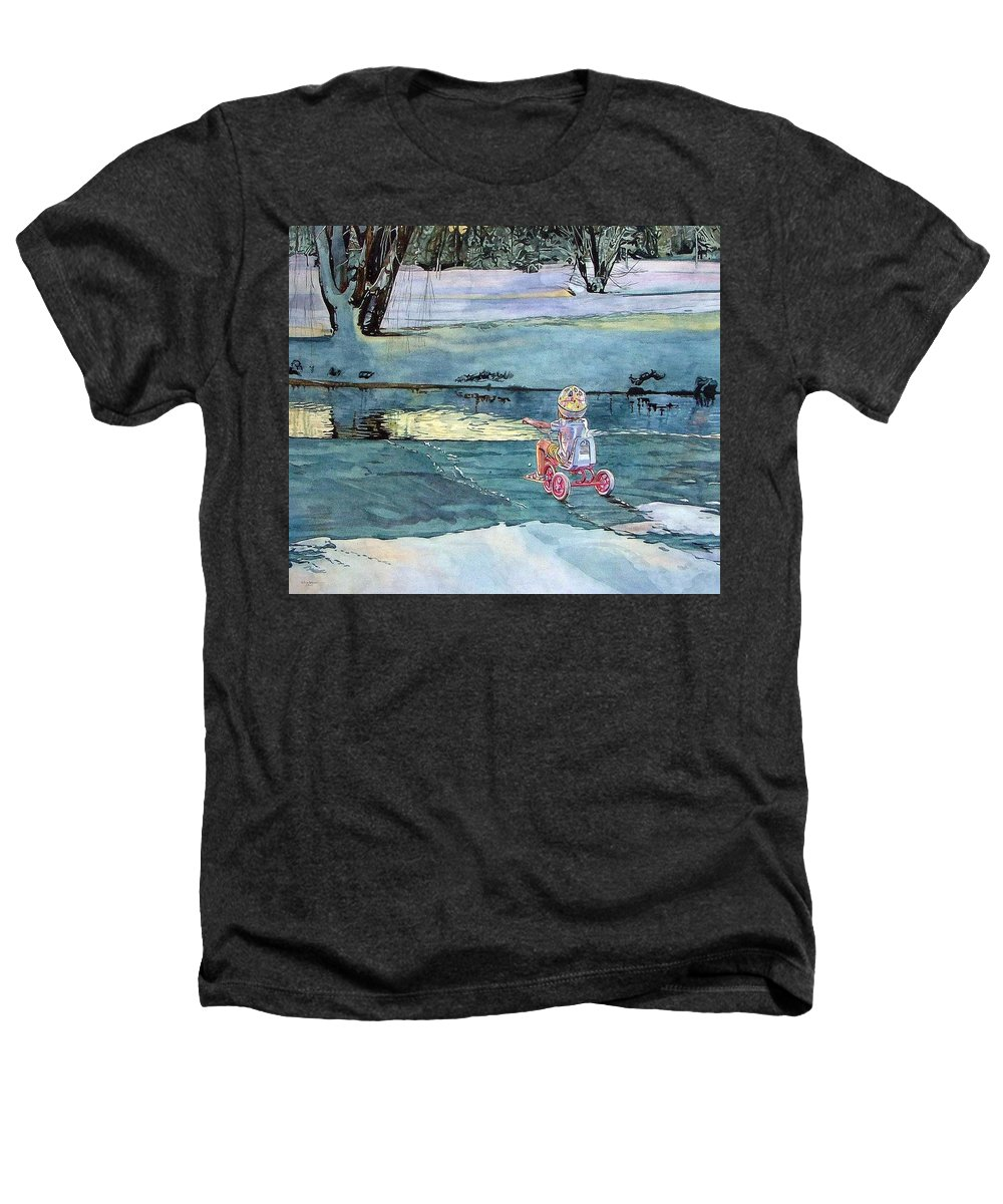 Children Heathers T-Shirt featuring the painting Twilight by Valerie Patterson
