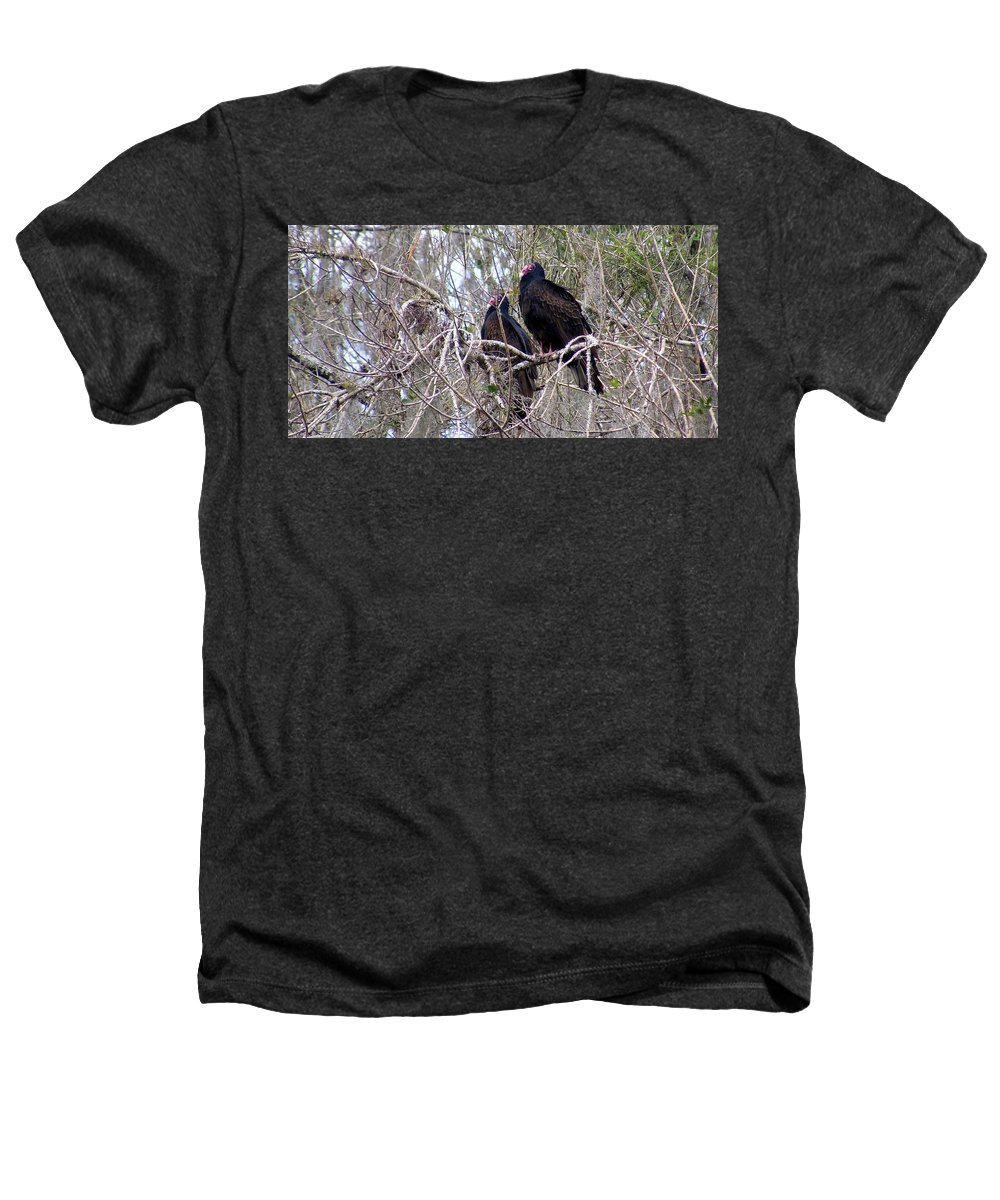 Birds Heathers T-Shirt featuring the photograph Two Friends by Ed Smith
