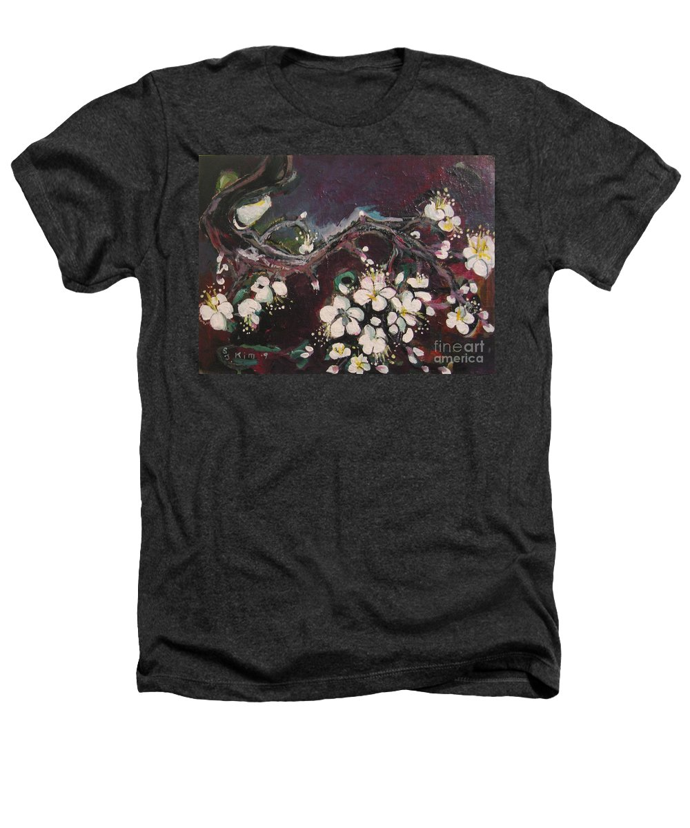Ume Blossoms Paintings Heathers T-Shirt featuring the painting Ume Blossoms by Seon-Jeong Kim