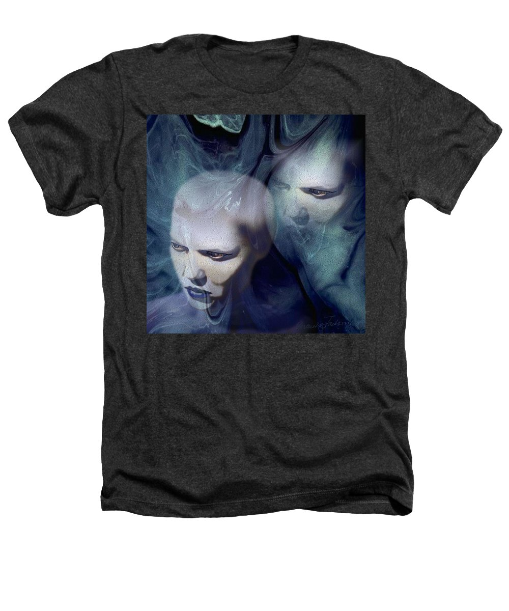 Dream Afterlife Experience Blue Smoke Heathers T-Shirt featuring the digital art Untitled by Veronica Jackson