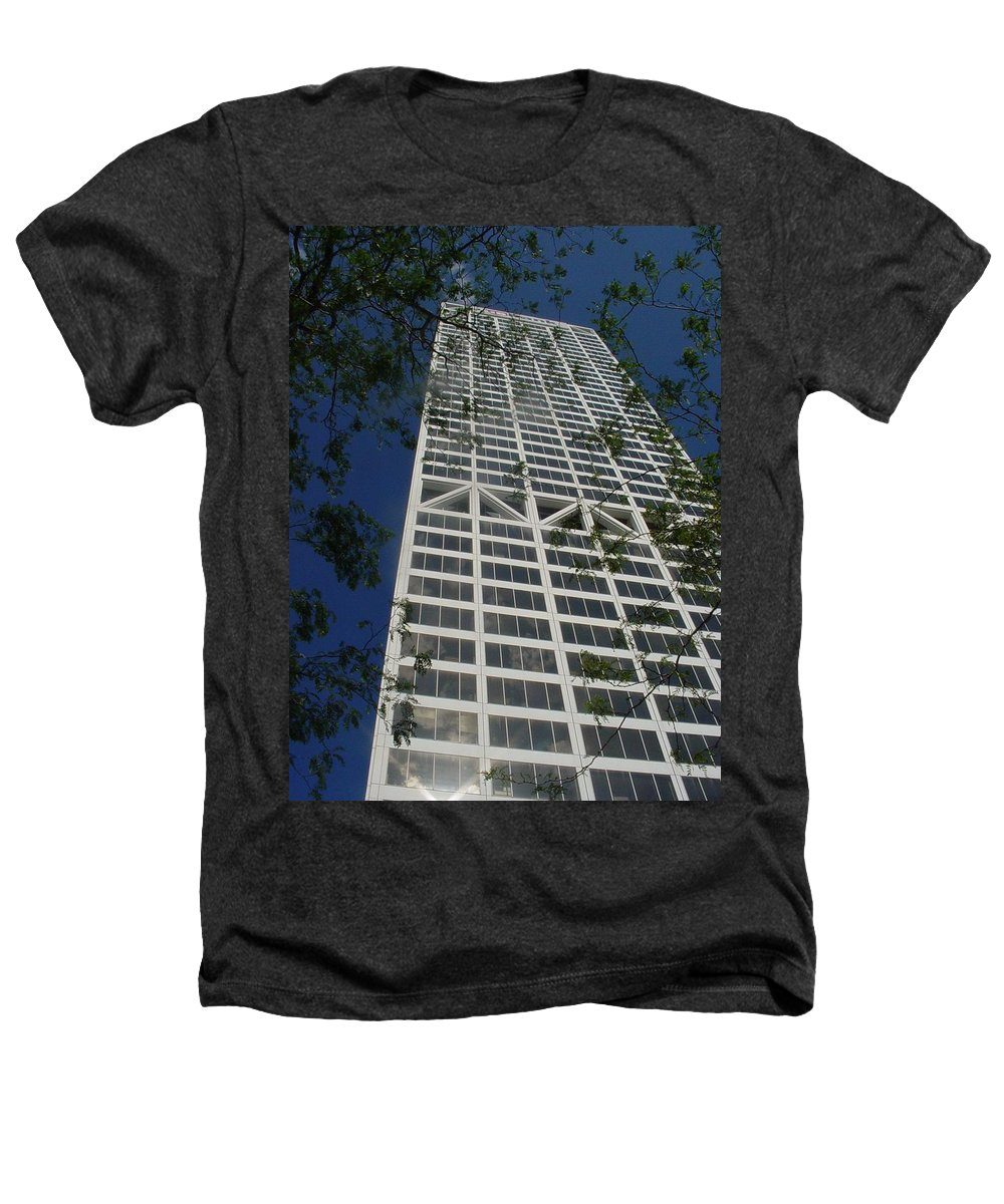 Us Bank Heathers T-Shirt featuring the photograph Us Bank With Trees by Anita Burgermeister