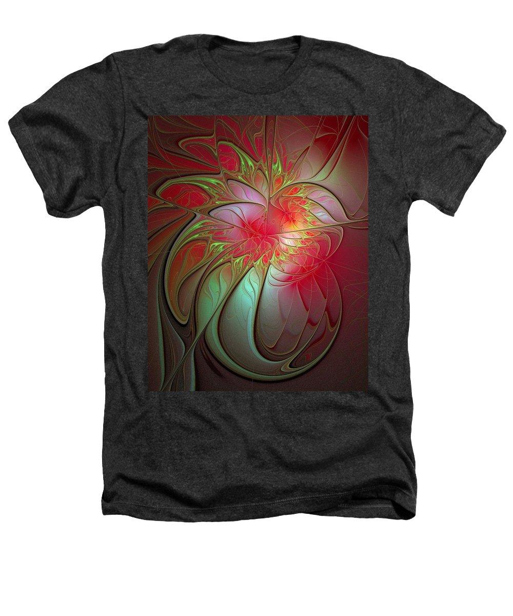 Digital Art Heathers T-Shirt featuring the digital art Vase Of Flowers by Amanda Moore