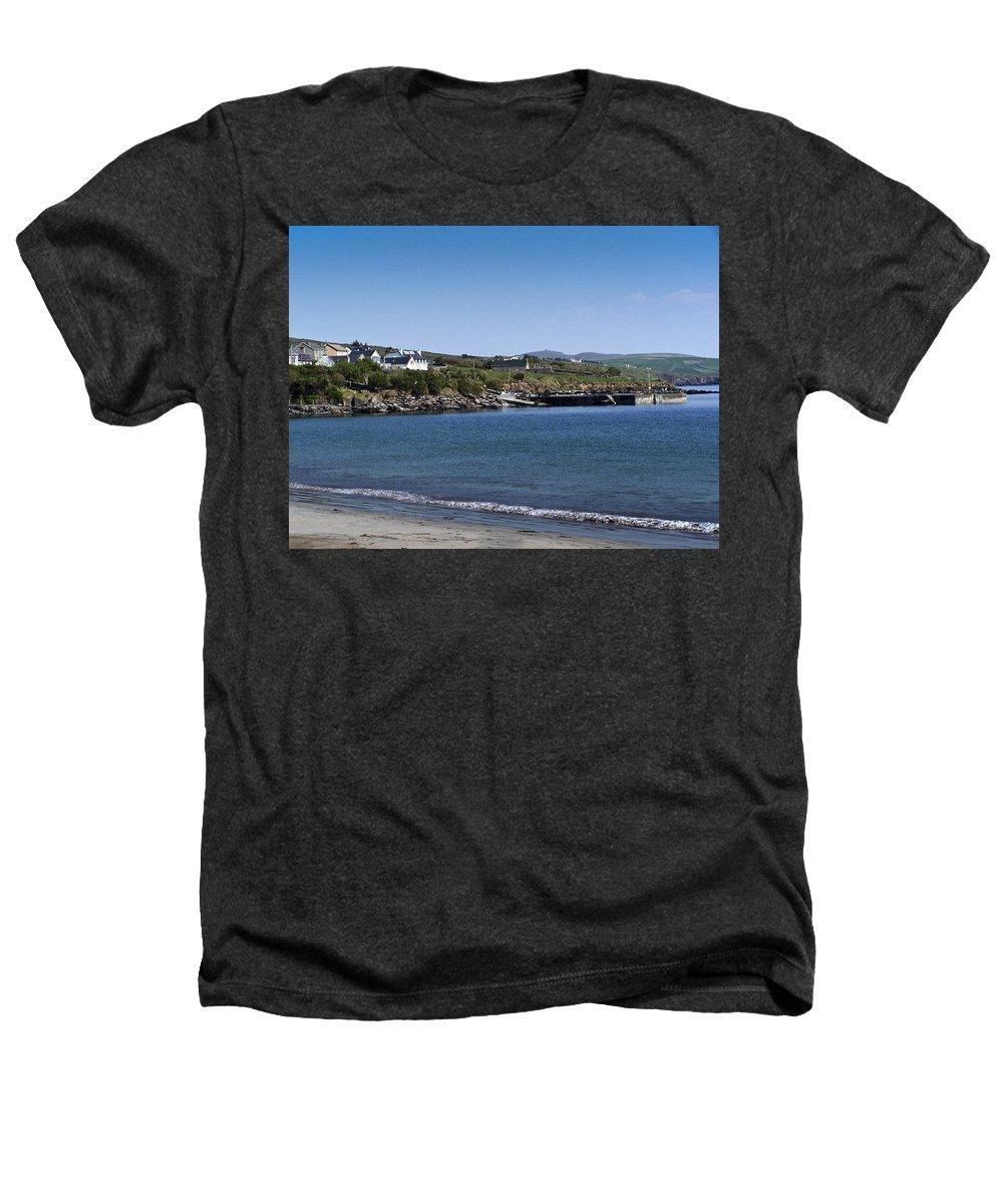 Irish Heathers T-Shirt featuring the photograph Ventry Beach And Harbor Ireland by Teresa Mucha