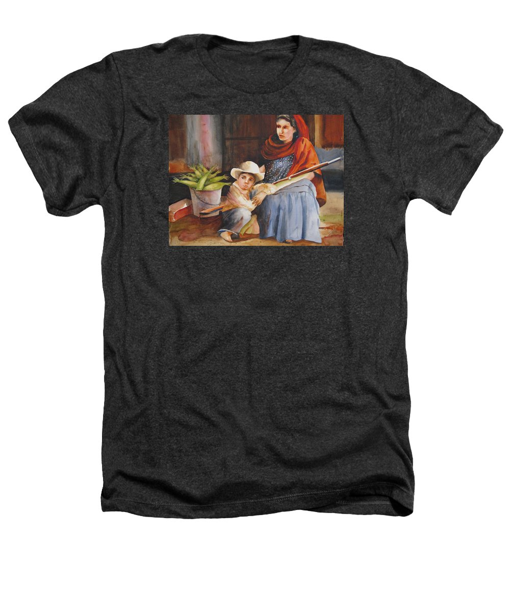 Mother Heathers T-Shirt featuring the painting Vigil by Karen Stark
