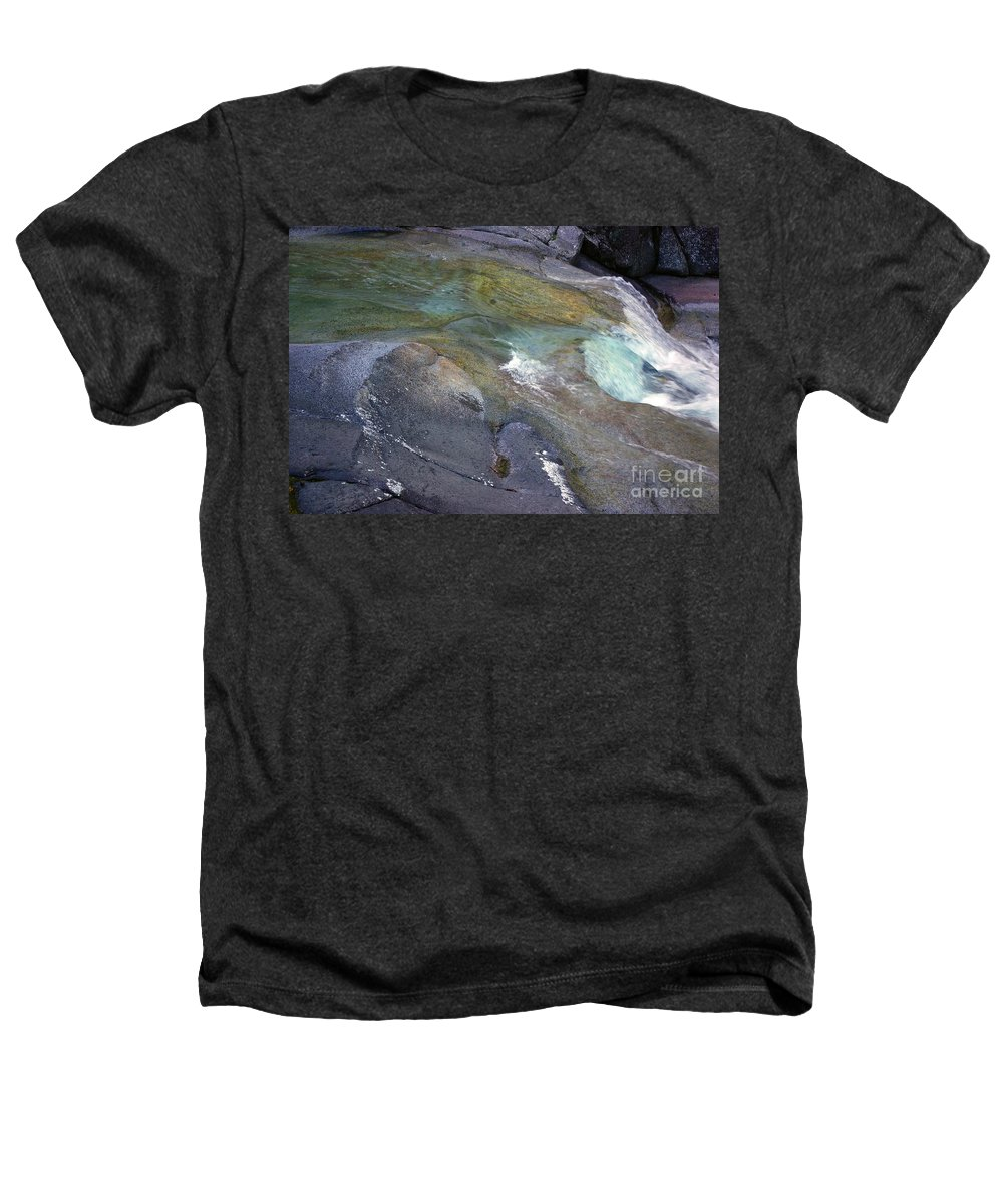 Tropical Heathers T-Shirt featuring the photograph Water Flow by Kerryn Madsen- Pietsch