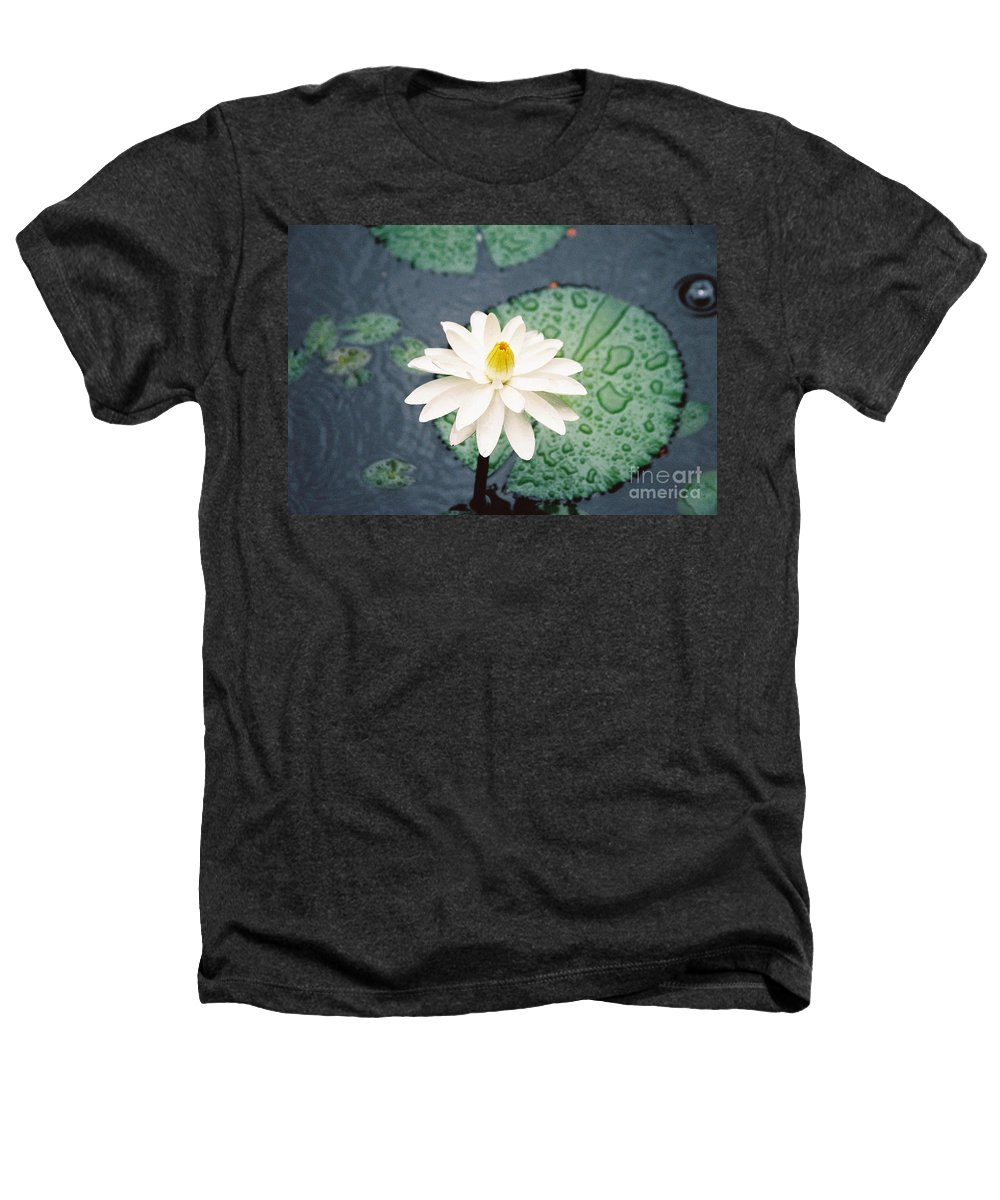 Flowers Heathers T-Shirt featuring the photograph Water Lily by Kathy McClure
