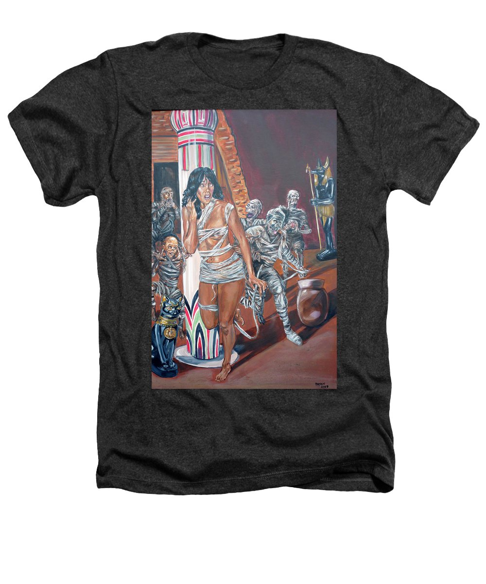Egypt Heathers T-Shirt featuring the painting Well Preserved by Bryan Bustard