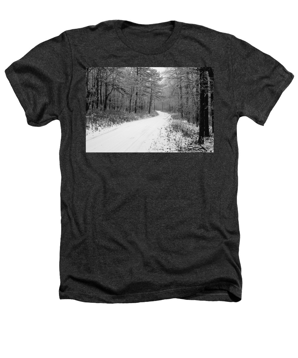 Winter Heathers T-Shirt featuring the photograph Where Will It Lead by Jean Macaluso