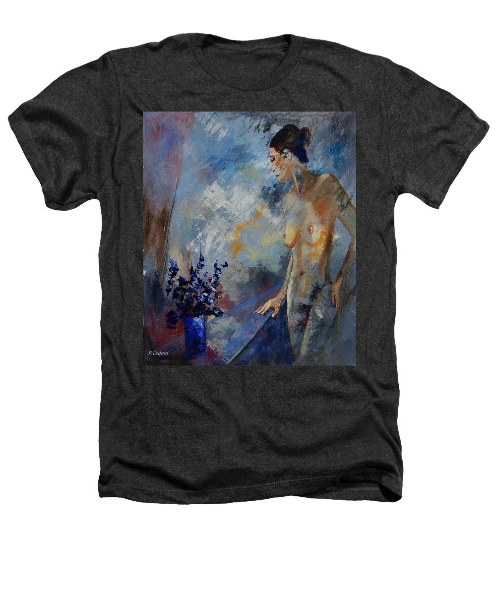 Girl Heathers T-Shirt featuring the painting Will He Be Coming by Pol Ledent