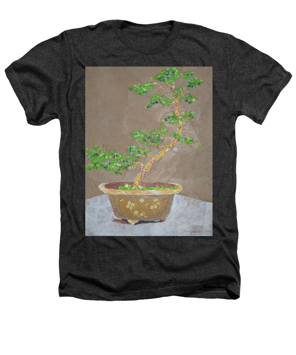 Banzai Tree Heathers T-Shirt featuring the painting Windswept Juniper by Leah Tomaino
