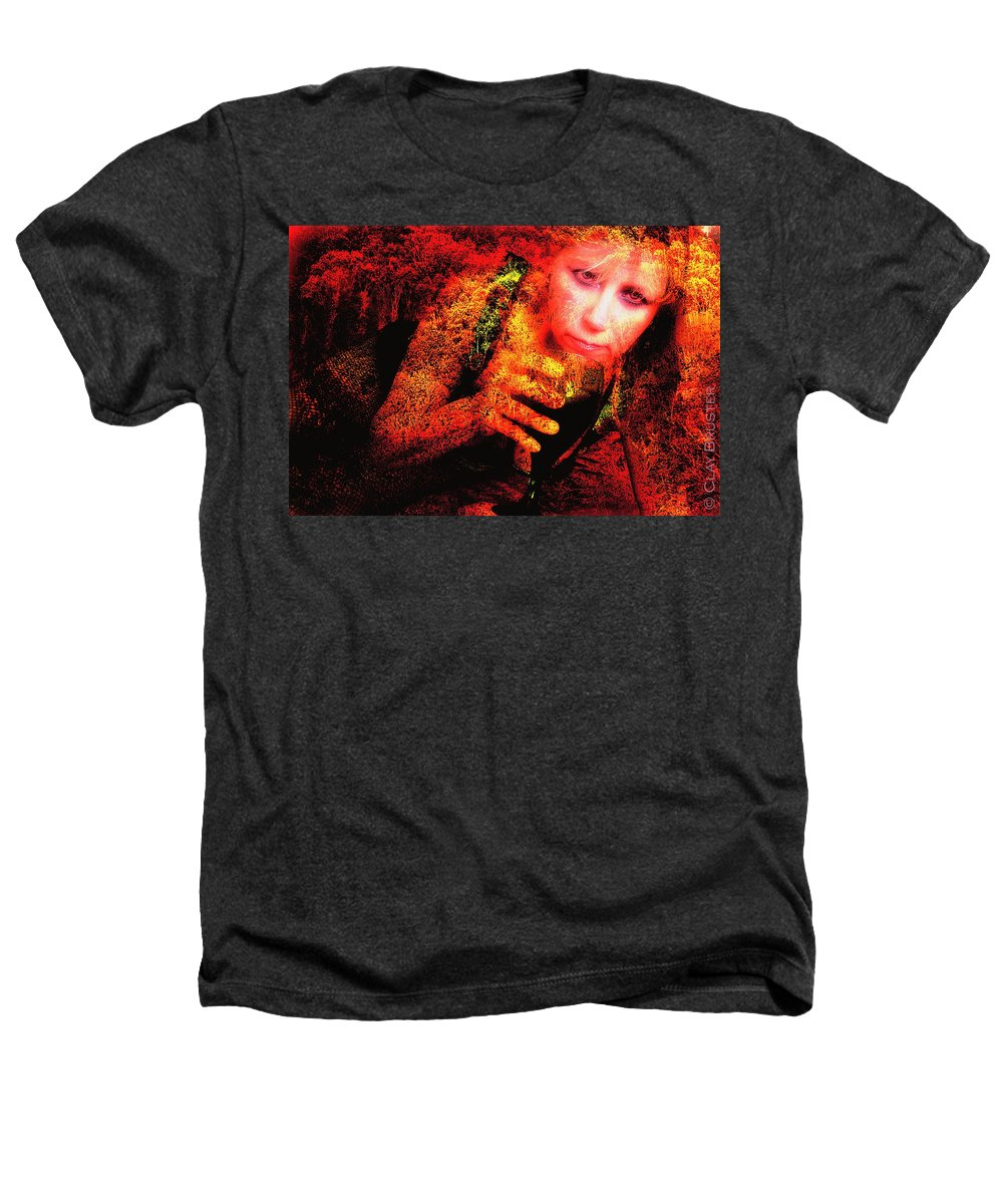 Clay Heathers T-Shirt featuring the photograph Wine Woman And Fall Colors by Clayton Bruster
