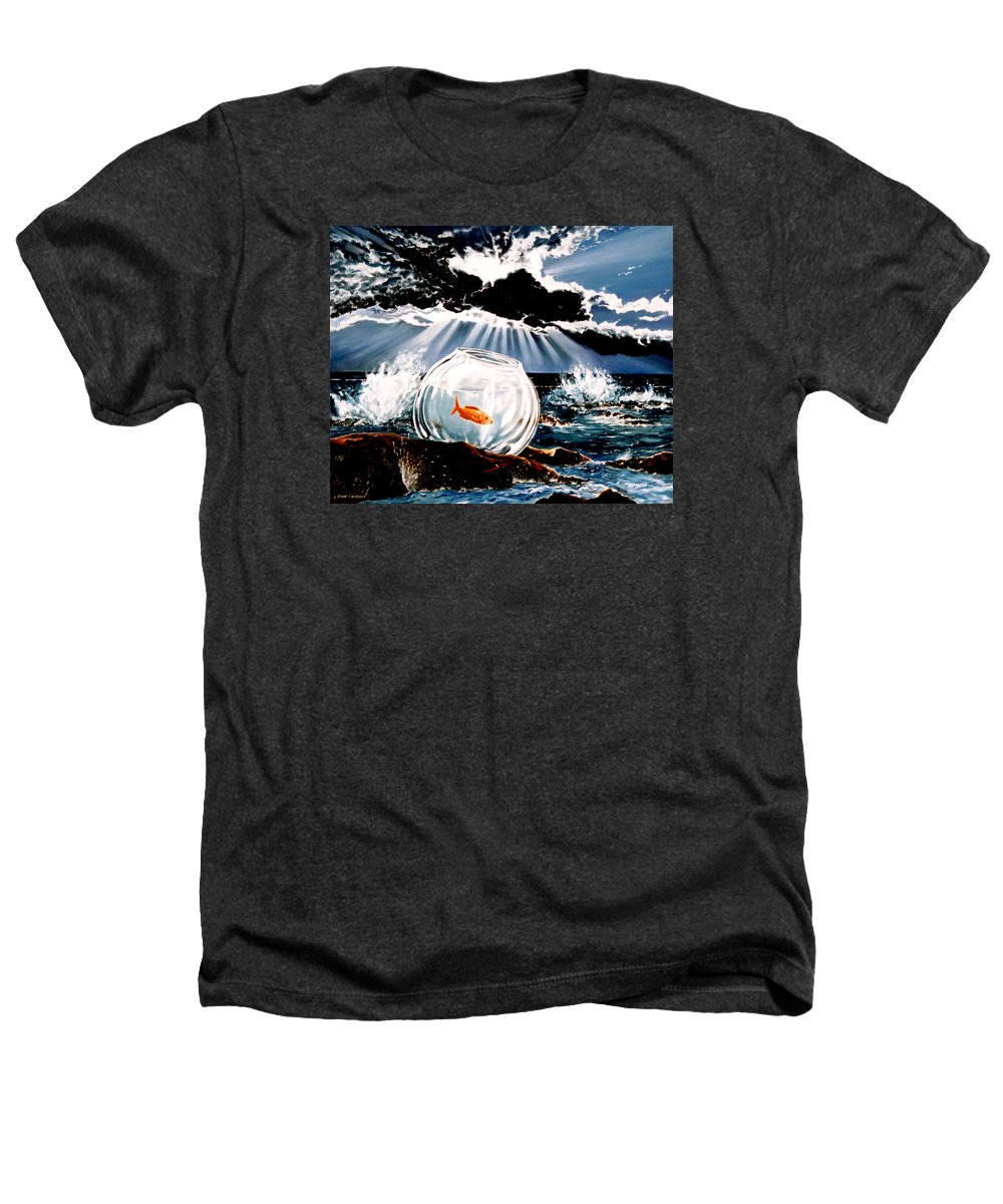Surreal Heathers T-Shirt featuring the painting Wish You Were Here by Mark Cawood