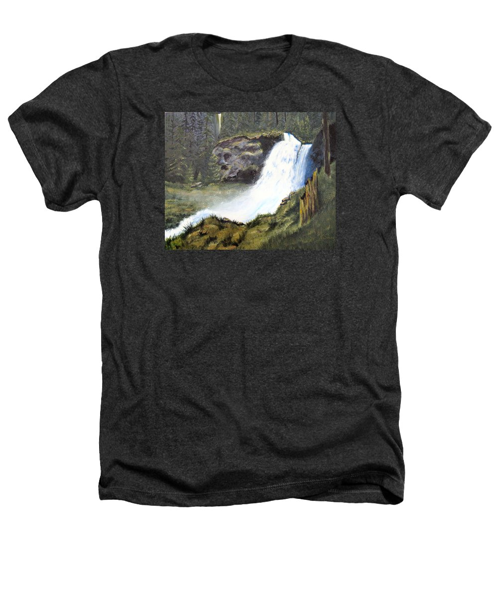 Forest Heathers T-Shirt featuring the painting Woodland Respite by Karen Stark